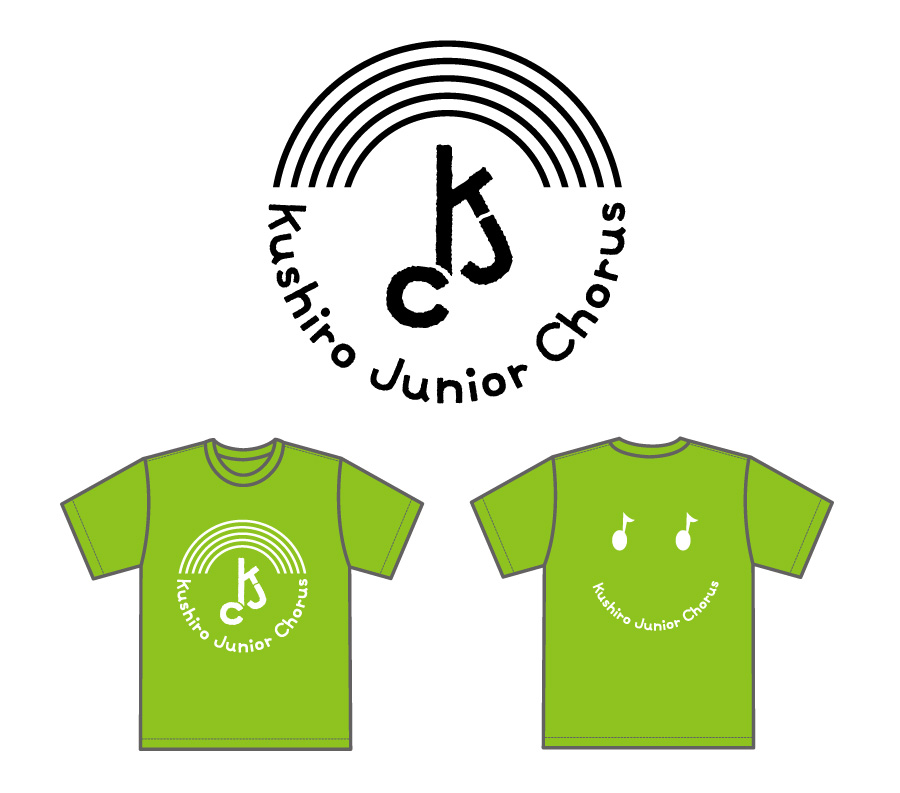 釧路少年少女合唱団様・オリジナルロゴ&Tシャツデザイン